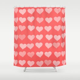 Cute Hearts Shower Curtain