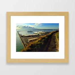 Dover Docks from the White Cliffs Framed Art Print