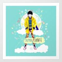 shinee Art Prints featuring SHINEE Taemin by Haneul Home