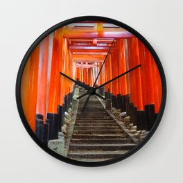Fushimi Inari Gates Wall Clock