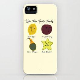 The Fab Four Foods iPhone Case