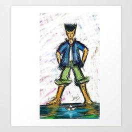 Paper Boater Art Print