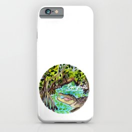 Everglades National Park Watercolor iPhone Case
