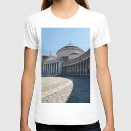 Napoli, Piazza del Plebiscito, Italy landmark, Naples photo, italian art, neoclassical architecture T-shirt