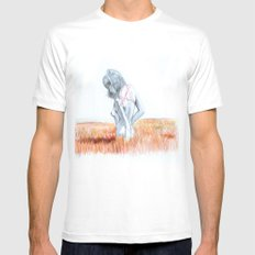 free field Mens Fitted Tee White MEDIUM