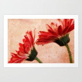 Red Texture 2 Art Print