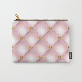 Luxury Tufted Gold Diamond 7 Carry-All Pouch