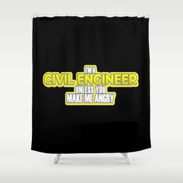Civil Engineer Gift Construction Builder Gift Shower Curtain
