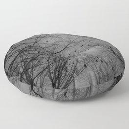 Tree of black Floor Pillow