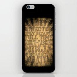 Artistic Director iPhone Skin