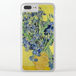 """Vincent Van Gogh """"Still Life with Irises"""" Clear iPhone Case"""