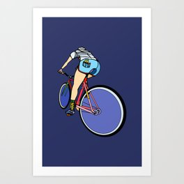 Fixie Cyclist Art Print