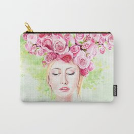Girl in roses Carry-All Pouch