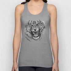 Tiger Portrait Animal Design Unisex Tank Top