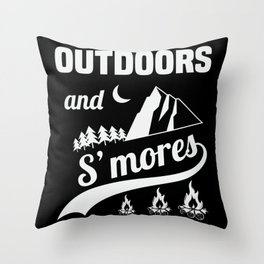Outdoors And Smores Throw Pillow