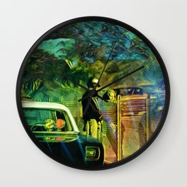 A Nightly Pull Over:The Casual Affair Wall Clock