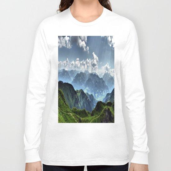 Mountain Peaks in Austria Long Sleeve T-shirt
