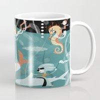 underwater Mugs featuring underwater by Orit Bergman