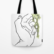 A Hand with Snot Tote Bag