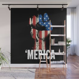 'Merica We Stand For The Flag Wall Mural