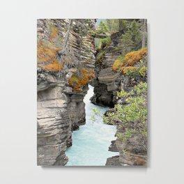 Waterfall - Athabasca Falls Metal Print