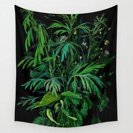 Green & Black, summer greenery Wall Tapestry
