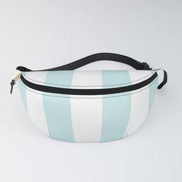 Duck Egg Pale Aqua Blue and White Wide Vertical Cabana Tent Stripe Fanny Pack