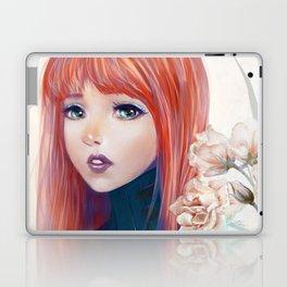 Captain Goldfish - Anime sci-fi girl with red hair portrait Laptop & iPad Skin