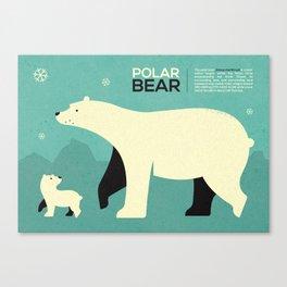 Polar bear infographic ...  Canvas Print