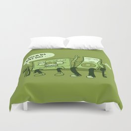 Old And Young Duvet Cover