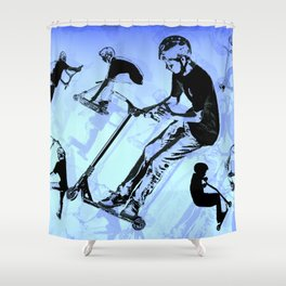 It's All About The Scooter! - Scooter Tricks Shower Curtain
