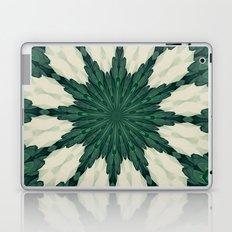 Tropical Sacramento Green and Silver Leaf Mandala Laptop & iPad Skin