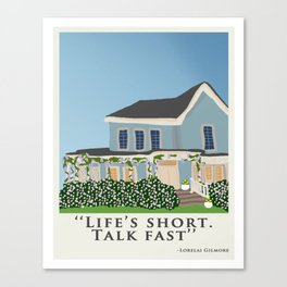 Gilmore house in spring Canvas Print