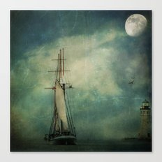 Sail away into the night Canvas Print
