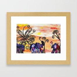 Indian Elephants Framed Art Print