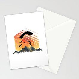 Vintage TEE Sun Sunset Clothing Parachute Stationery Cards