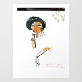 ladies_1 Art Print
