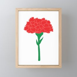 Carnation Illustration Framed Mini Art Print