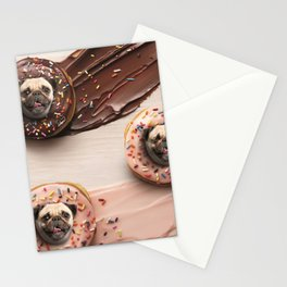 Pugs Succulent Donuts Stationery Cards