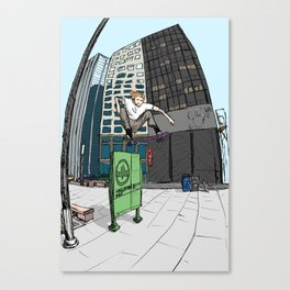 Ollie Over Manhattan Park Canvas Print