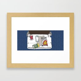 Plane Food Framed Art Print