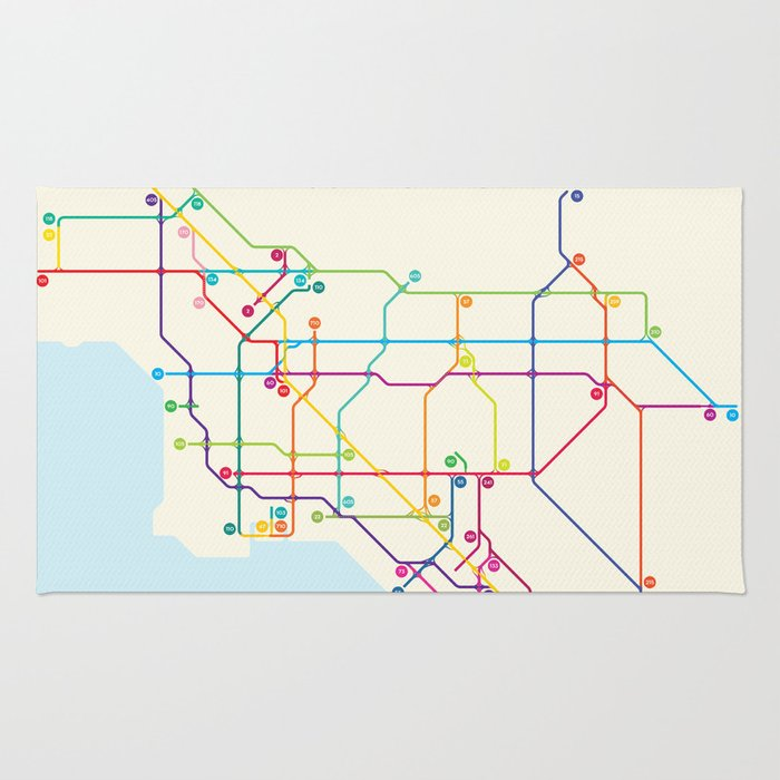 Los Angeles Freeway System Rug