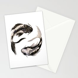 Yin Yang Koi Stationery Cards