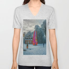 Colors in winter Unisex V-Neck