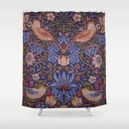 Birds in The Flower and Strawberry Garden Design Shower Curtain
