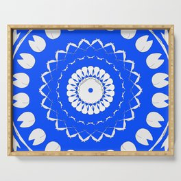 Greek Blue & White Mosaic Serving Tray