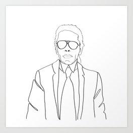 Karl Lagerfeld portrait Art Print