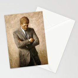 Official Portrait of President John F. Kennedy by Aaron Shikler Stationery Cards