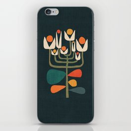 Retro botany iPhone Skin