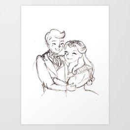 Marius and Cosette Art Print